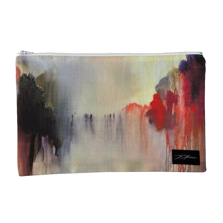 Serenity Linen Accessory Pouch / Clutch Purse