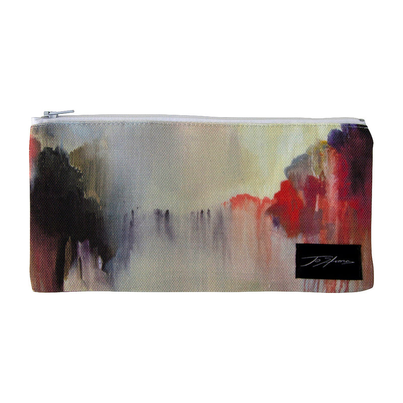 Serenity Linen Accessory Pouch / Clutch Purse - Jo Stanes