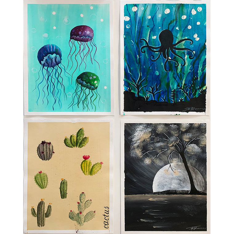 Online Art Classes - Set of 4