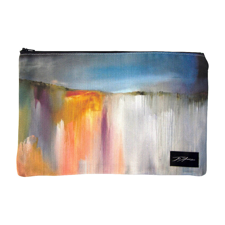 Storm Rolling In Linen Accessory Pouch / Clutch Purse