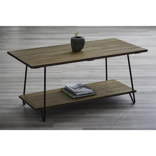 CAYSON Solid Wild Almond Wood Coffee Table