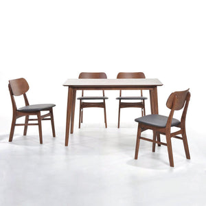 Sarah 1.2m Dining Table + 4/6 Sarah Dining Chairs - Picket&Rail Singapore's Premium Furniture Retailer