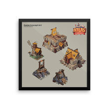 [Limited Edition] Atlas Empires Concept Art - Framed Wall Art