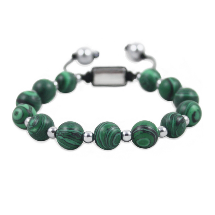 BRACELET 'CAELI' WITH MALACHITE
