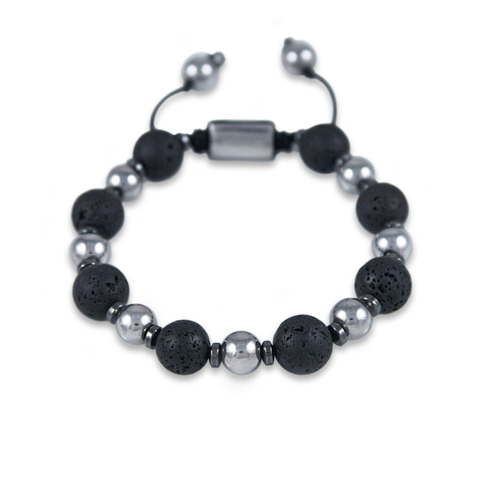 BRACELET 'TERRA' WITH LAVA ROCK