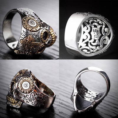 '3000AD' 925 Sterling Silver Luxury Skull Ring