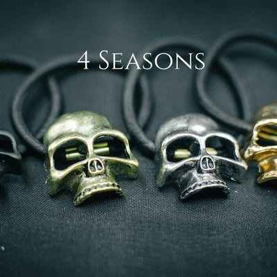'4 Seasons' Elastic Skull Hair Ties Set