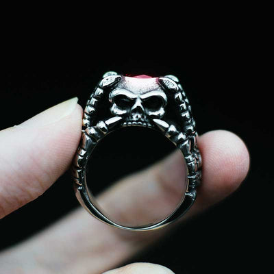 'God's Hands' Skull Ring