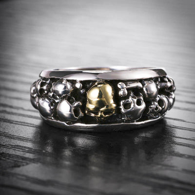 'Gothic Origin' 925 Sterling Silver Skull Ring