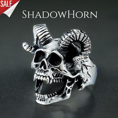 'ShadowHorn' Skull Ring