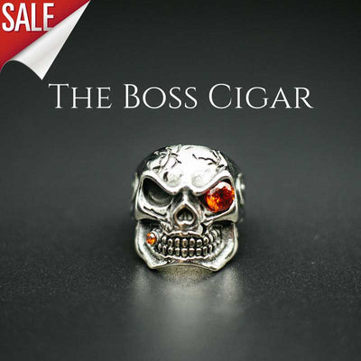 'The Boss Cigar' Skull Ring
