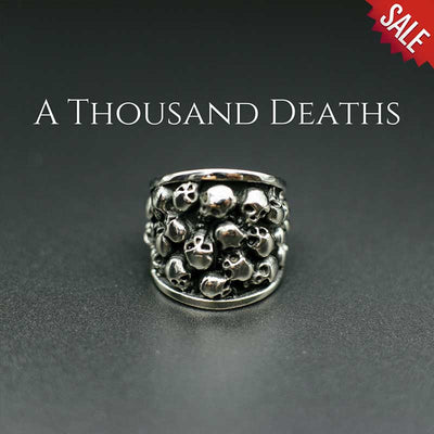 'A Thousand Deaths' Skull Ring