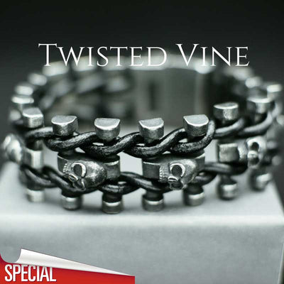 'Twisted Vine' Skull Bracelet