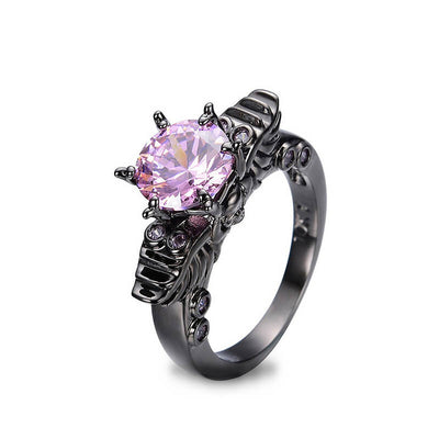 'Violet Crown' Skull Ring For Women