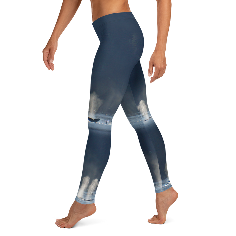 Whales in Silver Bay Leggings