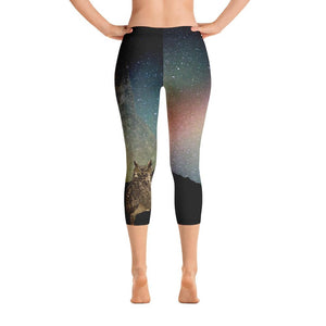 Great Horned Owl Capri Leggings