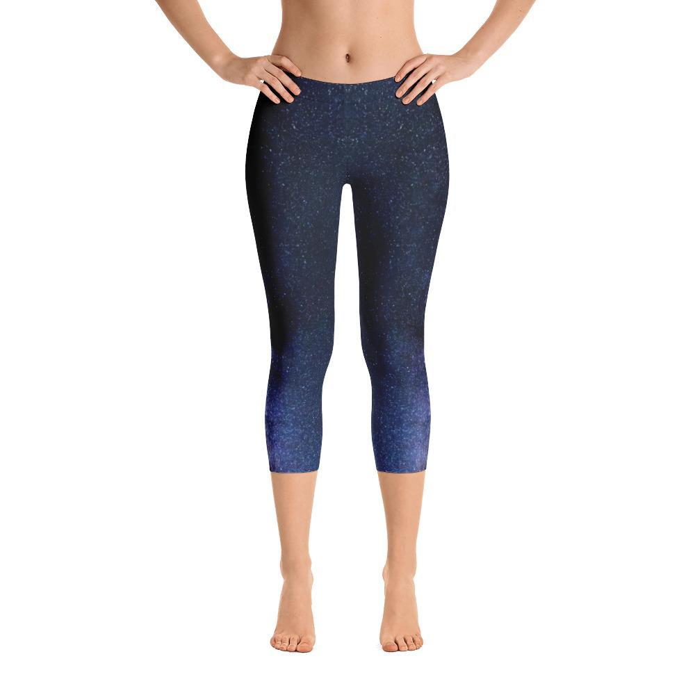 Milky Way Capri Leggings - 57 Peaks