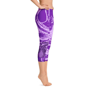 Octopus Purple Capri Leggings