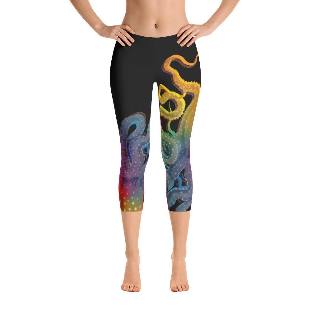 Octopus Rainbow Capri Leggings - 57 Peaks