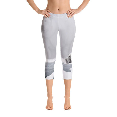 Northern Pygmy Owl Capri Leggings
