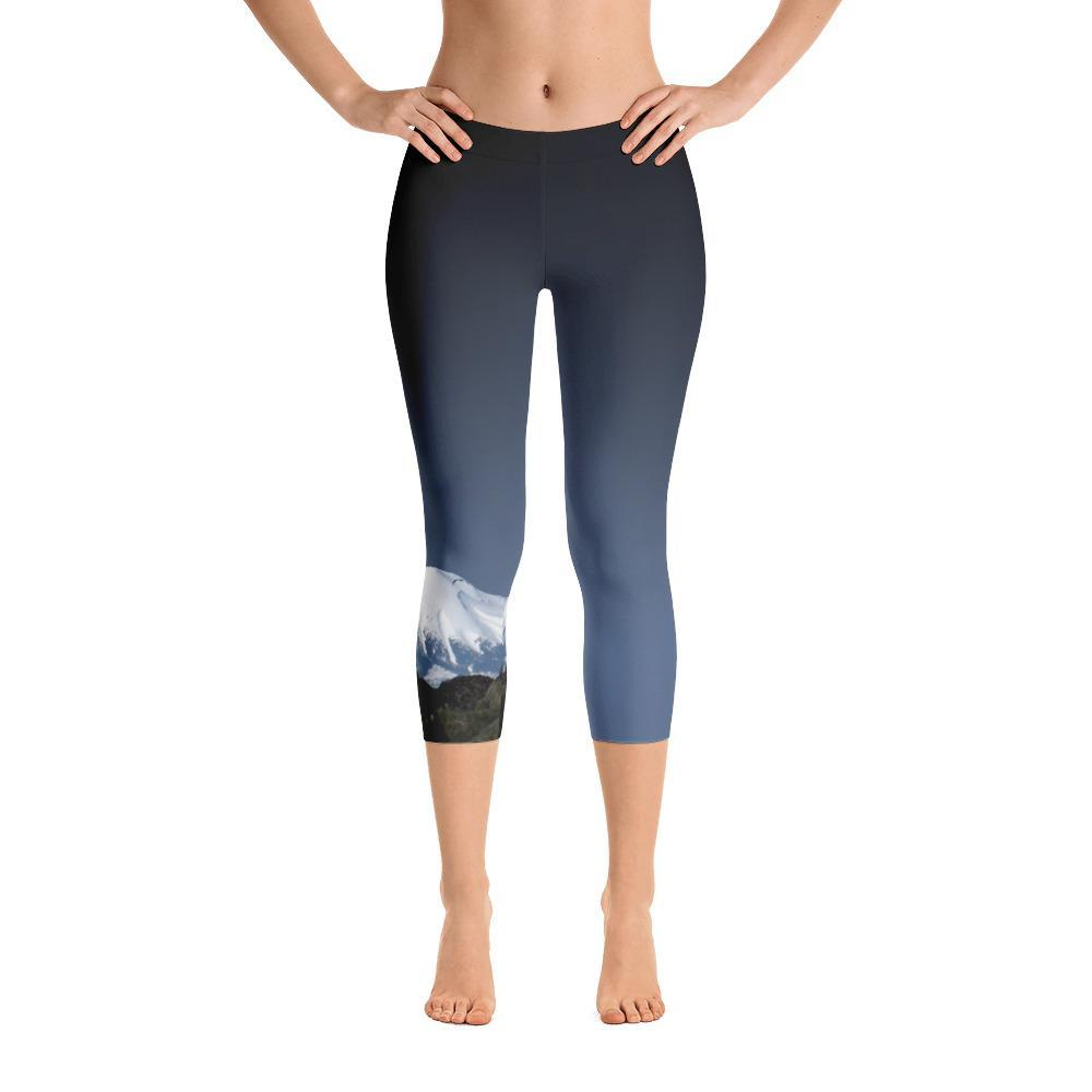 Sitka (Mt. Edgecumbe Volcano) Capri Leggings - 57 Peaks