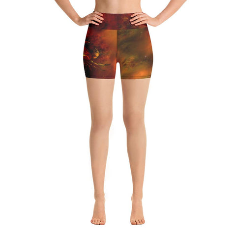 Crab Nebula Yoga Shorts