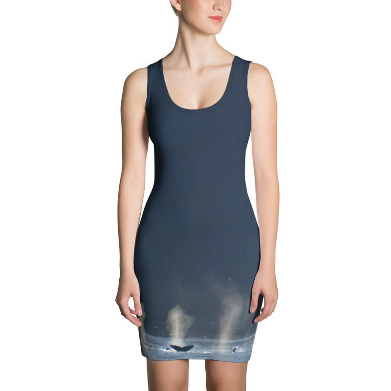 Whales in Silver Bay Dress - 57 Peaks
