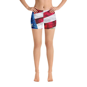Floral USA Flag Shorts