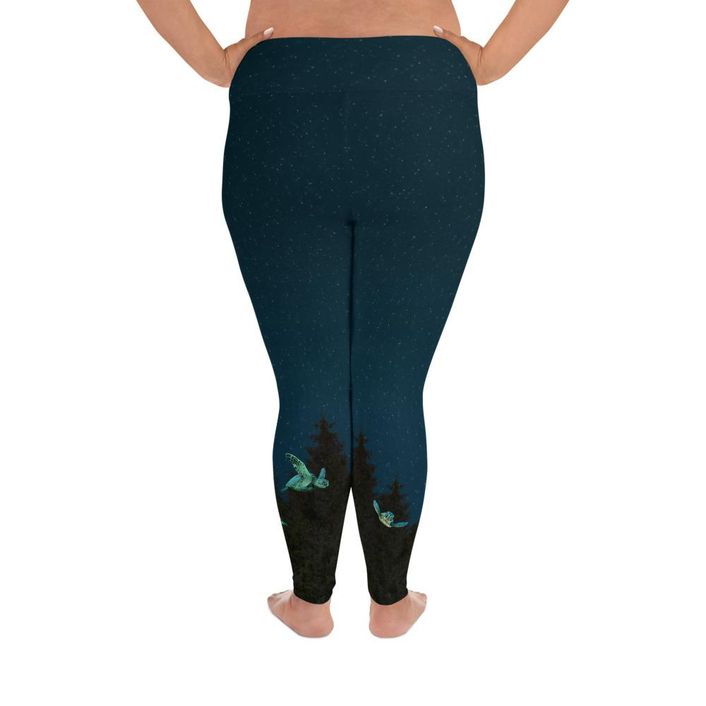 Flying Sea Turtle Plus Size Leggings