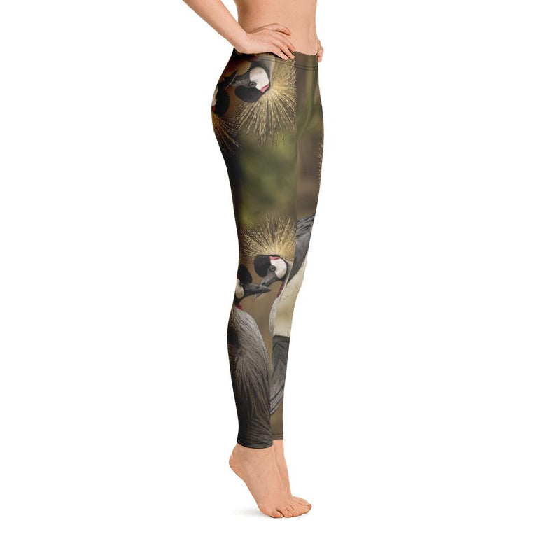 Grey Crowned Crane Leggings
