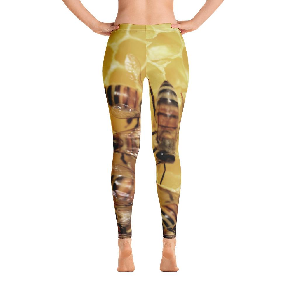 Bees on Honeycomb Leggings - 57 Peaks