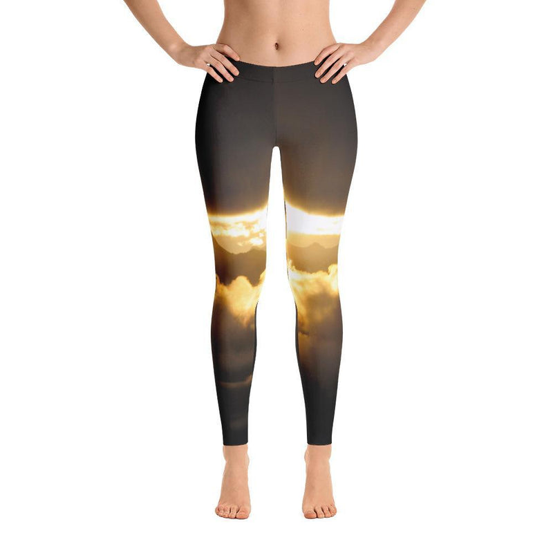 Cross Mountain Sunrise from Mount Verstovia Leggings - 57 Peaks
