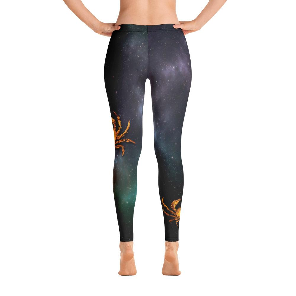 Gold Crab 4 Gyotaku Leggings - 57 Peaks