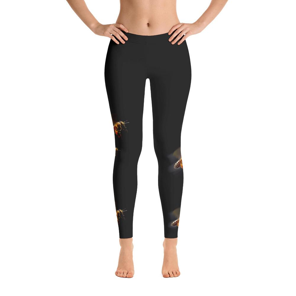Honeybees in Flight Leggings - 57 Peaks