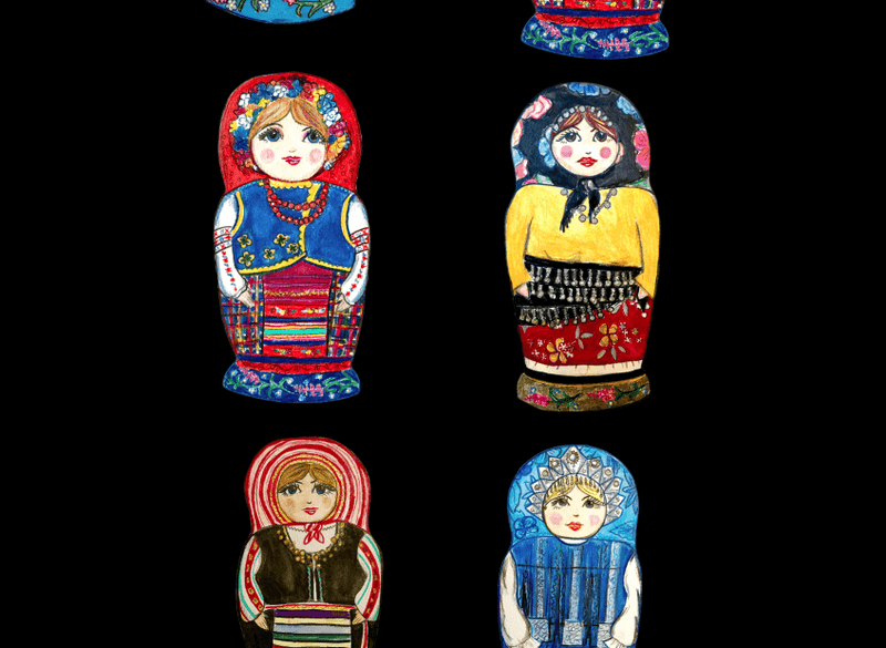 Matryoshka Doll Leggings