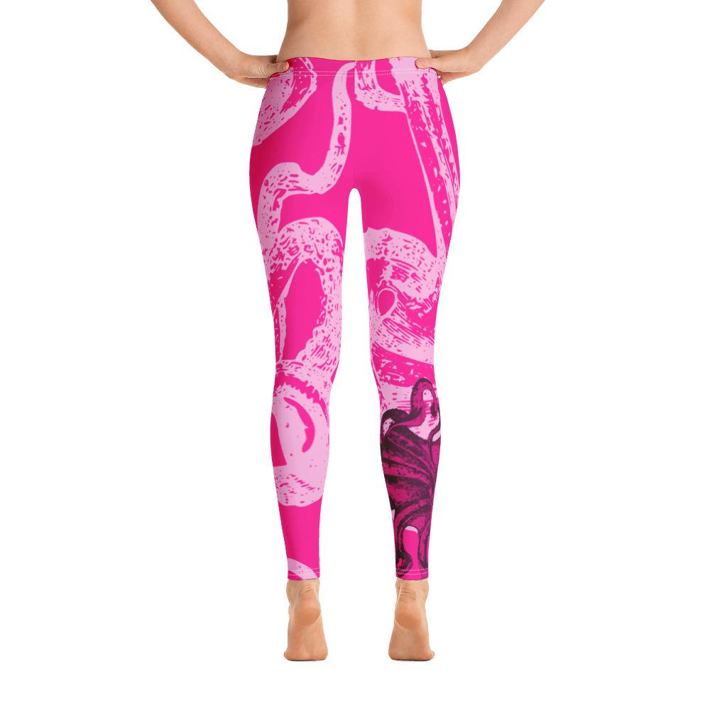 Octopus Hot Pink Leggings - 57 Peaks