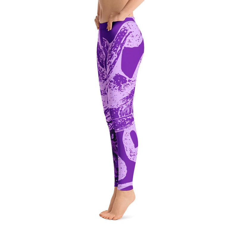 Octopus Purple Leggings - 57 Peaks
