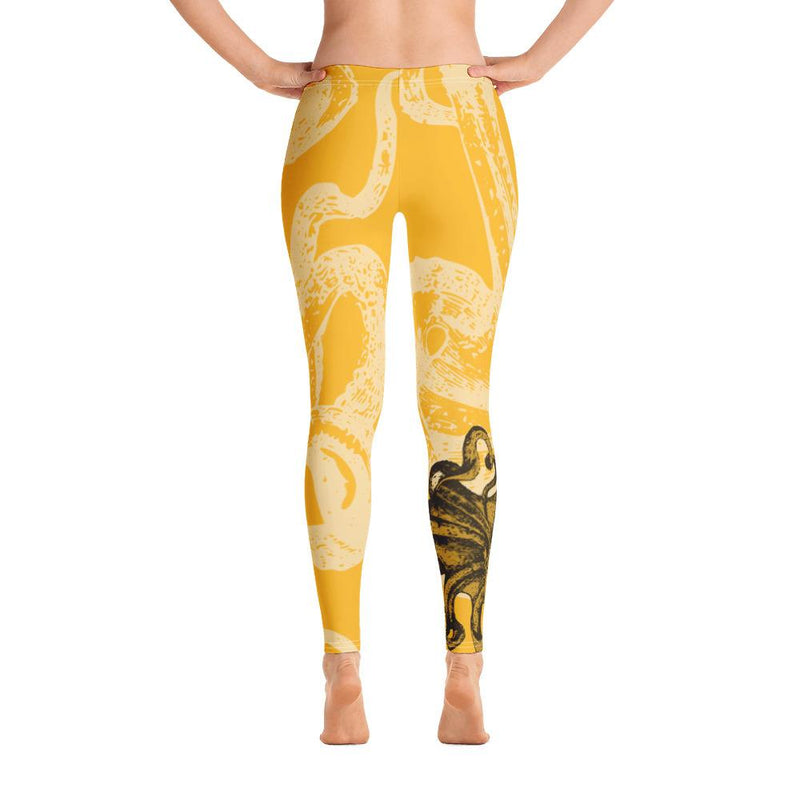 Octopus Yellow Leggings - 57 Peaks