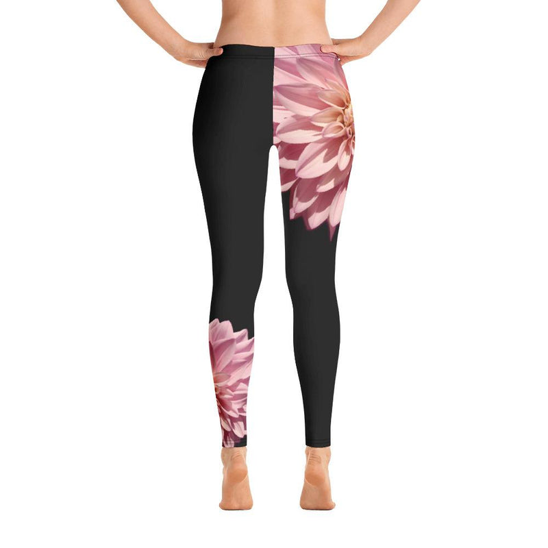 Pink Dahlia Leggings