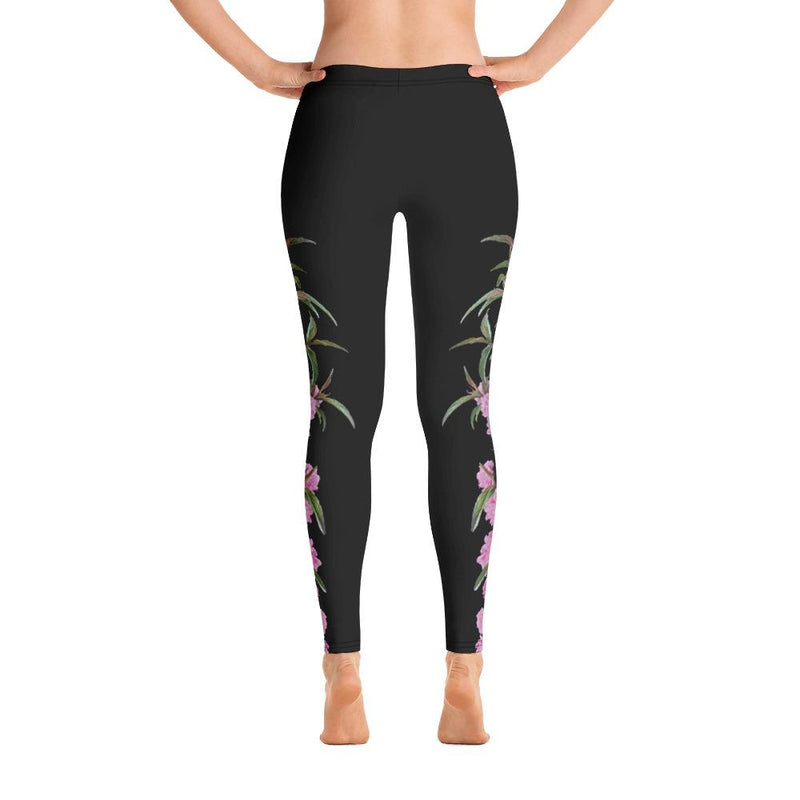 Pink Flowering Almond Leggings