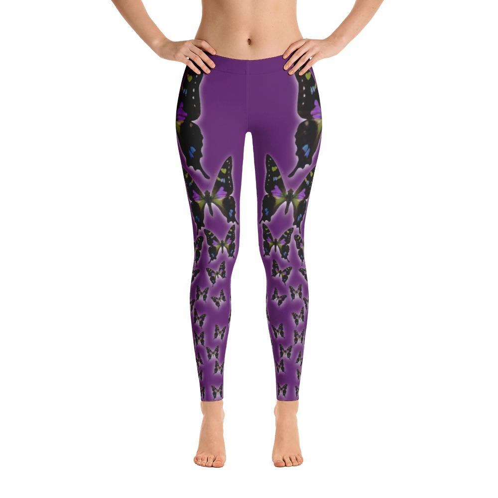 Purple Spotted Swallowtail 3 Leggings - 57 Peaks
