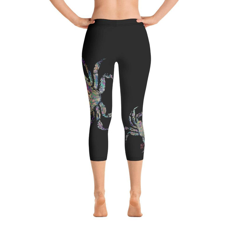Rainbow Crab 2 Gyotaku Capri Leggings