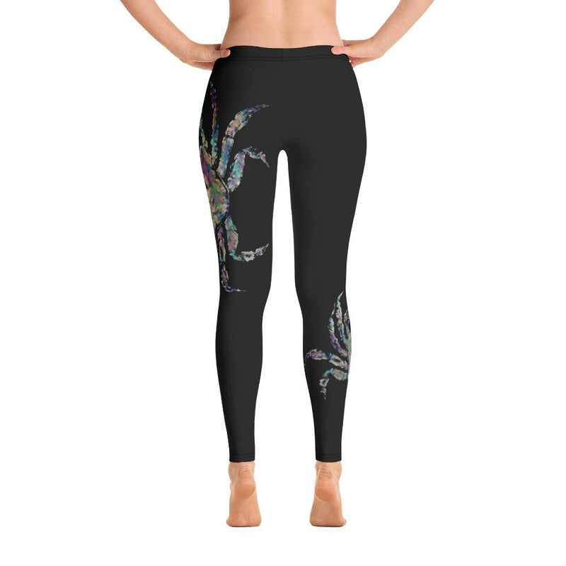 Rainbow Crab 2 Gyotaku Leggings - 57 Peaks