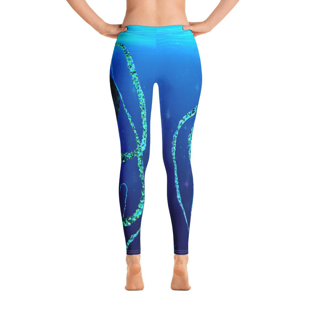 Teal Octopus Gyotaku Leggings - 57 Peaks