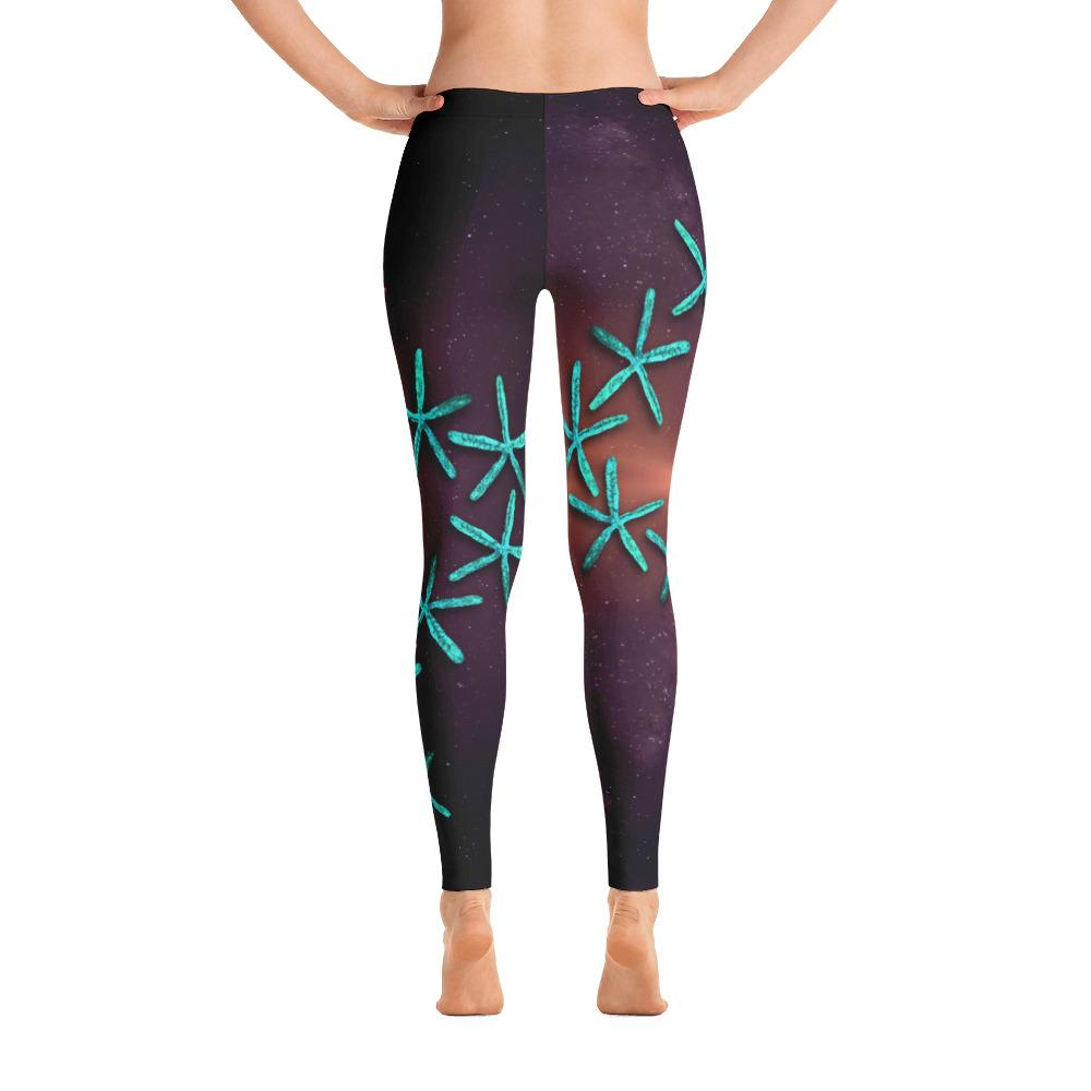 Teal Starfish 3 Gyotaku Leggings - 57 Peaks