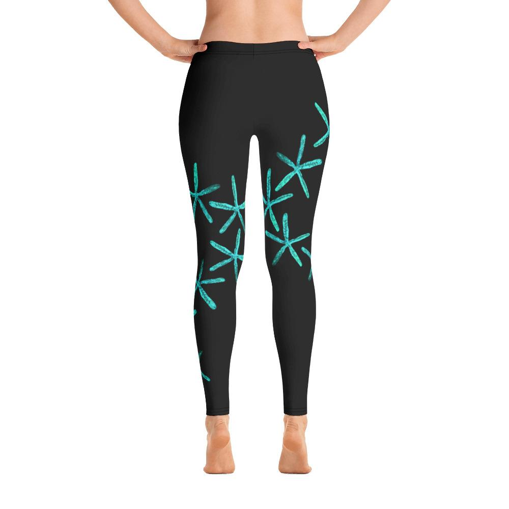 Teal Starfish Gyotaku Leggings - 57 Peaks