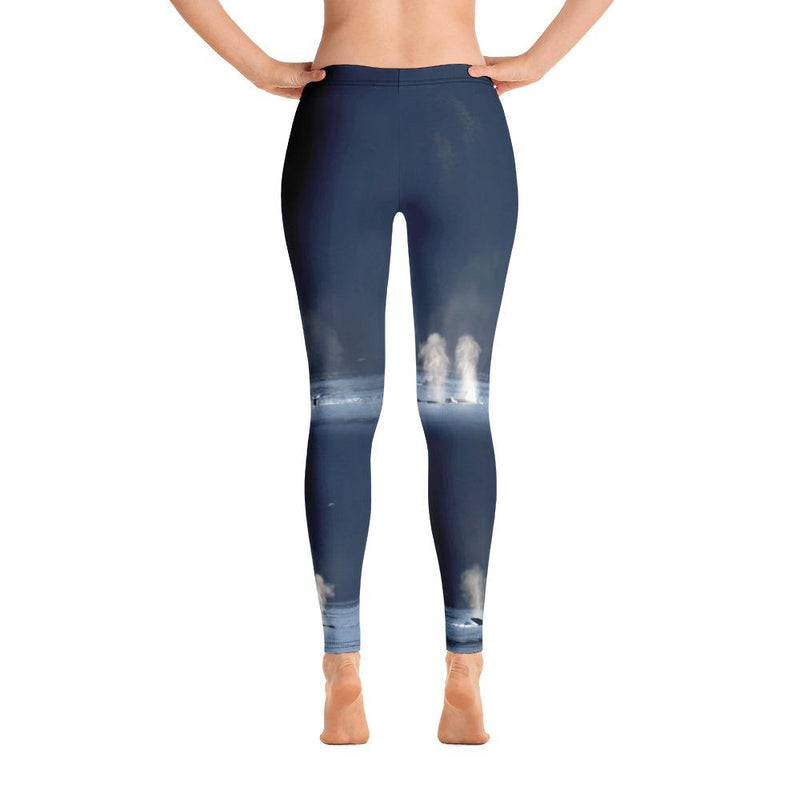 Whales in Silver Bay Leggings - 57 Peaks