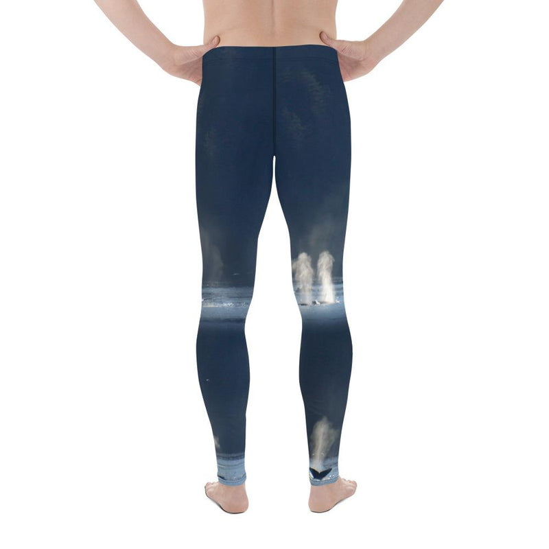 Men's Whales in Silver Bay Leggings