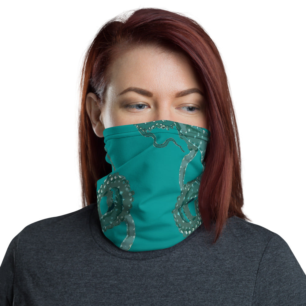 Teal Octopus Neck Gaiter