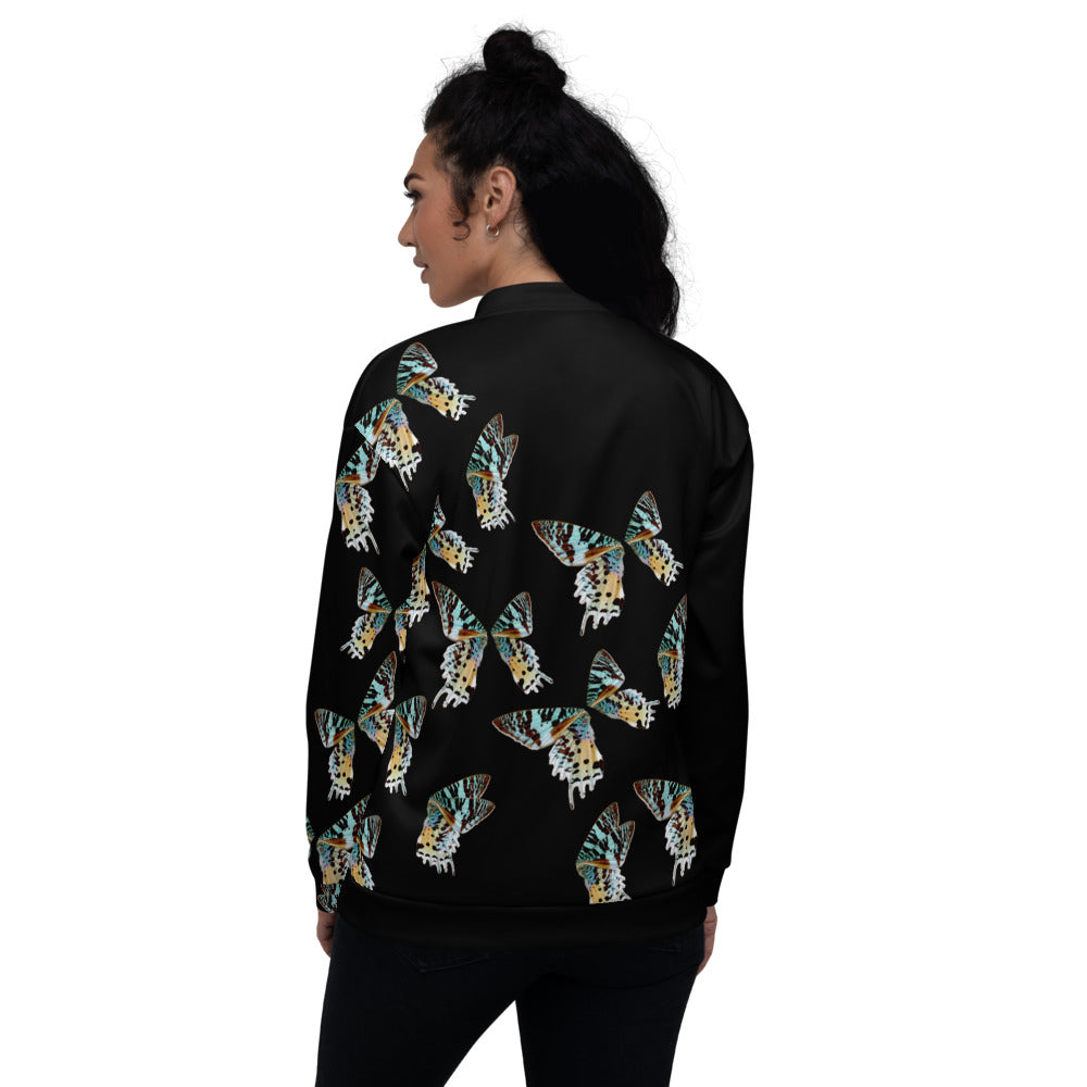 Sunset Moth Unisex Bomber Jacket